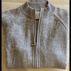 St. John collection animal print cashmere sweater